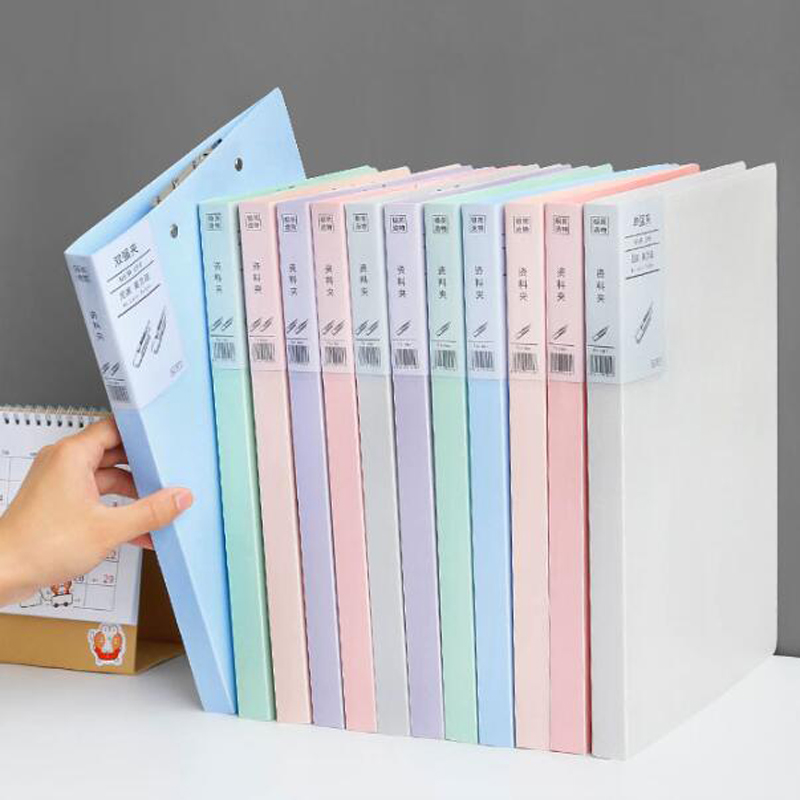 6 Colors A4 File Folder Kawaii Strong Clip Creativity Office Data Box File Filing Office Stationery  Portfolio Office Stationery