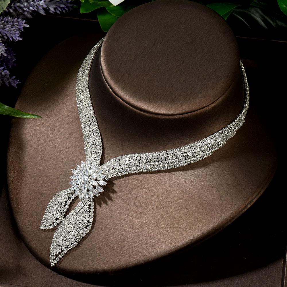 HIBRIDE Luxury Big 4pcs Jewelry Set With Cubic Zirconia for Women Bridal Party Wedding Accessories Saudi Arabic Dubai N-1433