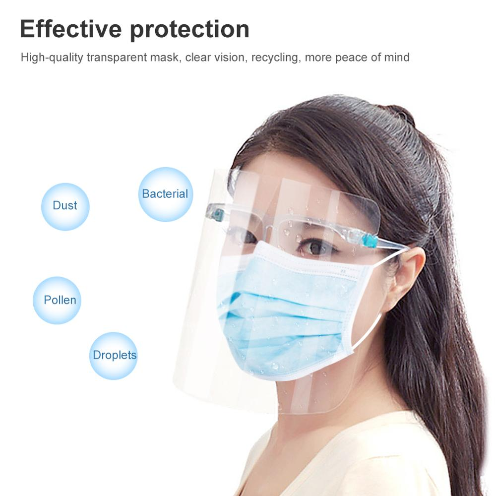 Safety Mask Anti-fog Mask Prevent Germs From Spreading Full Face Protection Transparent Visor Protection Mask Safety Face