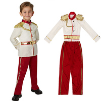 Kids Middle Ages Noble Royal Charming Prince Handsome Boy Prince Charming Costume Set Carnival Party Halloween Cosplay Costumes