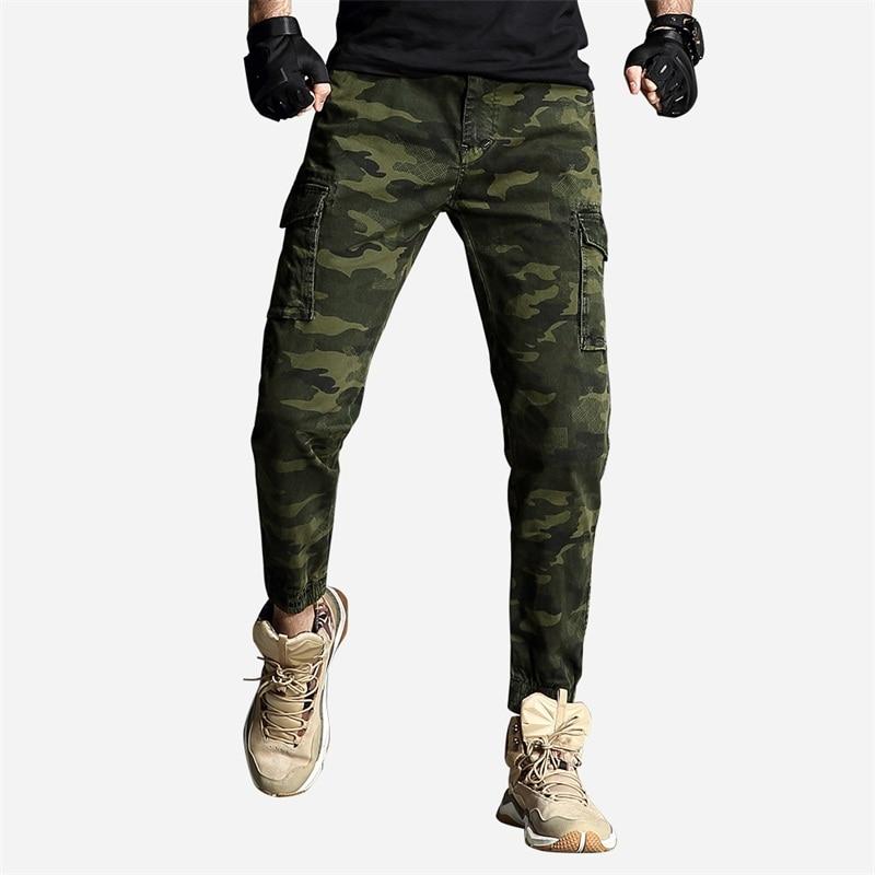 Mens Cargo Pants Camo Joggers Men Pants Men's Dropshipping Tactical Pants Cotton Camouflage Streetwear Hip Hop Pants For Man