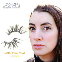 LASHAP 1 Pair False Eyelashes Wispy Cross Fluffy Lashes Length 25mm Eye Makeup Mink Lash Handmade Extension eyelashes