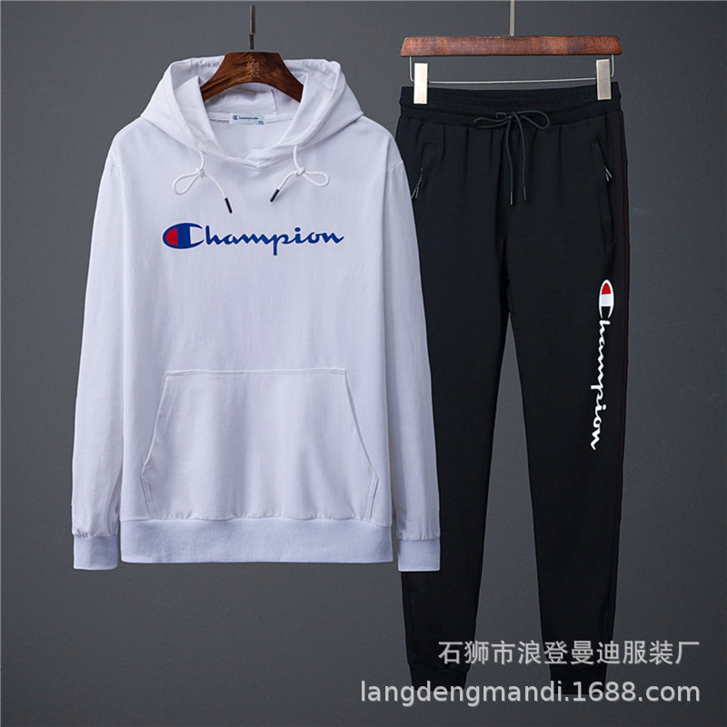Autumn New Style Fashion & Sports Set Men's Popular Brand Long Sleeve Hooded Wei Casual Clothing Trousers Two-Piece Set