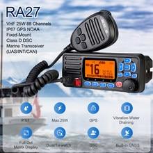 Transceptor marinho do rádio de retevis ra27 vhf 25w ip67 impermeável gps noaa fixo-montagem classe d dsc transceptor marinho (eua/int/can)