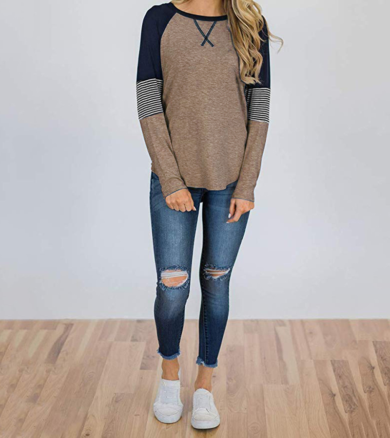 New Long Sleeve T Shirt Women Autumn Winter Round Neck Casual Loose Women T-shirt  Top Tee  Ladies tshirt  Female Clothes 2020 (9)