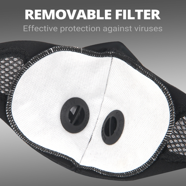 Motorcycle Face Mask Moto Protection Face Shield Filter PM2.5 Anit-fog Dustproof Balaclava Breathable Dust Mask Anti-droplet 3