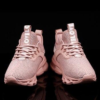 Damyuan scarpe sportive Casual da uomo da donna Sneakers con Design a lama cava per uomo scarpe da passeggio comode da uomo con smorzamento confortevole 1