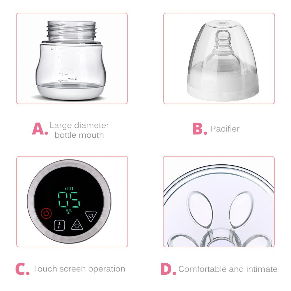 Electric Breast Pump with USB Rechargeable Battery and Breast Shield for Convenient Milk Feeding 3