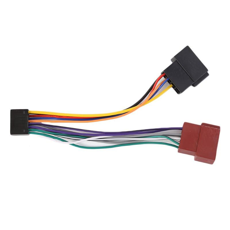 Hot Sale Wiring Harness Delicate Design ISO Wiring Harness Loom Connector Adaptor 16 Pin For KENWOOD Car Stereo Radio