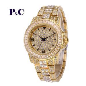 HIP HOP Men's Wrist Watches Gold Big Dia