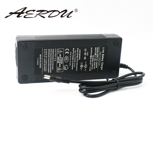 Image 4 - AERDU 7S 29.4V 4A 24v li ion battery pack charger Desktop type fast Power Supply Adapter EU/US/AU/UK AC DC 5521 Converter quick