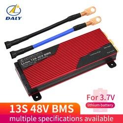Daly 3.7 v li-ion 13 s 48 v 80a 100a 120a 150a 200a 18650 pcm placa de proteção da bateria bm swith equilibrada módulo de bateria de lítio