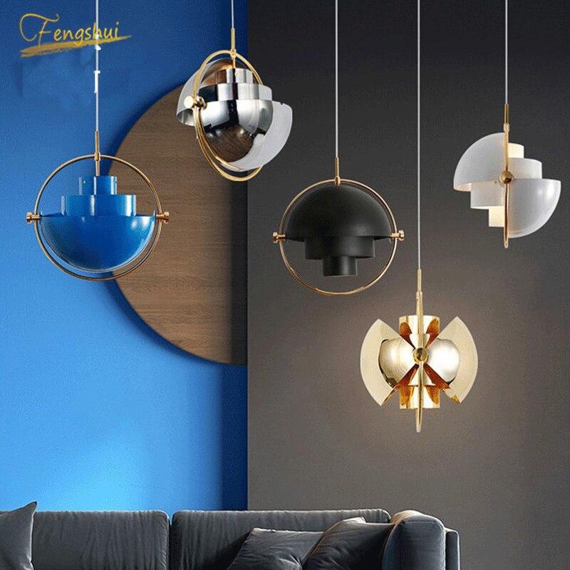 Nordic Iron Art Led Pendant Lamp Rotatable Lights Hanging Lamp Hanglamp Light Fixture Modern Hanging Decor Chandelier Lighting