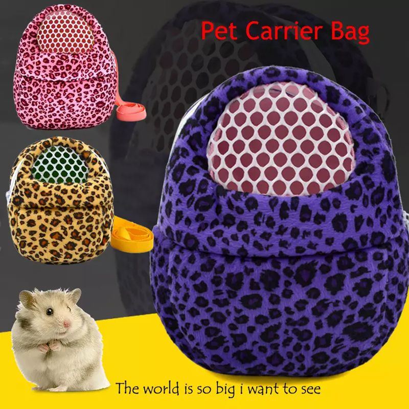 1Pc Breathable Small Animal Pet Carrier Travel Winter Warm Bag Rabbits Hamster Birds Bags Carriers