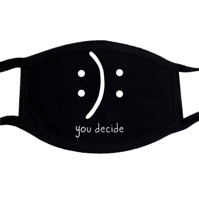 Cat Paws Printed Respirator Cartoon Lovely Black Washable Masks Keep Warm Cute Face Mask Dust Mouth Muffle Mask Kpop 3
