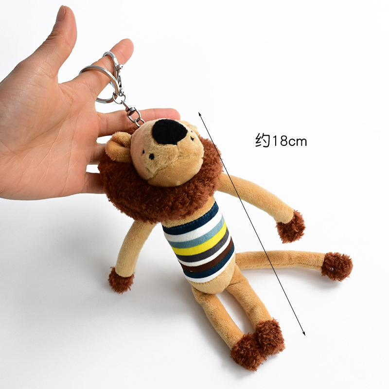 New Lion <font><b>Plush</b></font> <font><b>Toy</b></font> <font><b>Key</b></font> <font><b>Chain</b></font> Pendant Doll Baby Doll Keychain Keychain <font><b>Plush</b></font> Small Dinosaur image