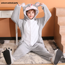 Kigurumi halloween boy girl Christmas Cosplay gray mouse Onesies Party Pajamas Pyjamas costumes carnival costume