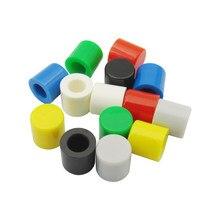 1000 шт. цветные колпачки переключателя для 6*6 мм тактильного переключателя, красный/зеленый/синий/желтый/белый/черный/серый