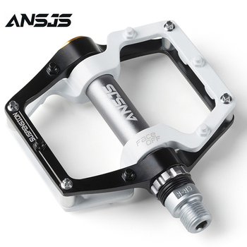 Ansjs Bike Pedals Ultralight MTB BMX Sealed Bearing Bicycle Pedals 9/16 Aluminum Alloy Road Mountain Bike Cycling Pedals 1pair bmx mtb bicycle pedals 3 bearings ultralight aluminum alloy mountain bike cycling pedal bike accessories drop shipping
