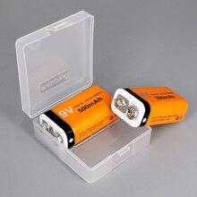 цена на PALO 9V 6F22 rechargeable battery lithium li-ion 500mAh batteries for Multimeter, electric guitar etc