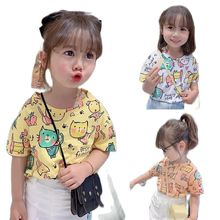 T-Shirt Tees Clothing Short-Sleeve Bottom Girls Tops Baby Children's Cartoon Summer VIDMID