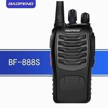 2 uds $TERM impacto BAOFENG BF 888S walkie talkie radio UHF baofeng radio portátil comunicador de potencia 5w 400 470 MHz pufeng