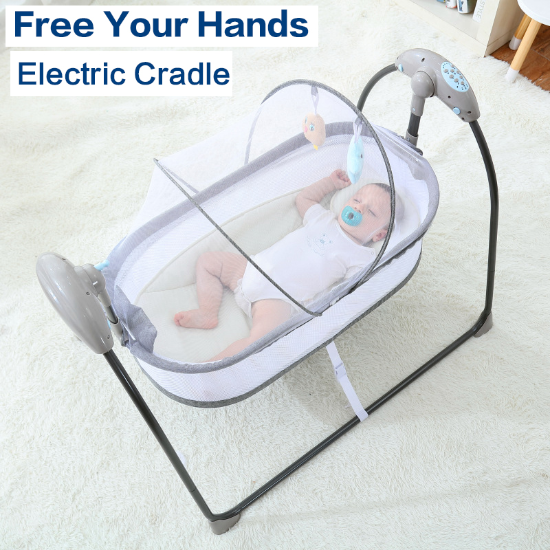Baby Electric Rocking Chair Swing Comforter Smart Placate Device Artifact Electric Cradle Trottie Nursling Bed Crib
