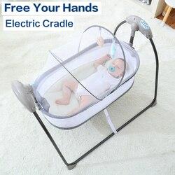Baby Elektrische Schaukel Stuhl Schaukel Tröster Smart Besänftigen Gerät Artefakt Elektrische Wiege Trottie Nursling Bett Krippe