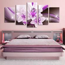 Настенная роспись 5 шт цветок лилии Орхидея печатный гостиной
