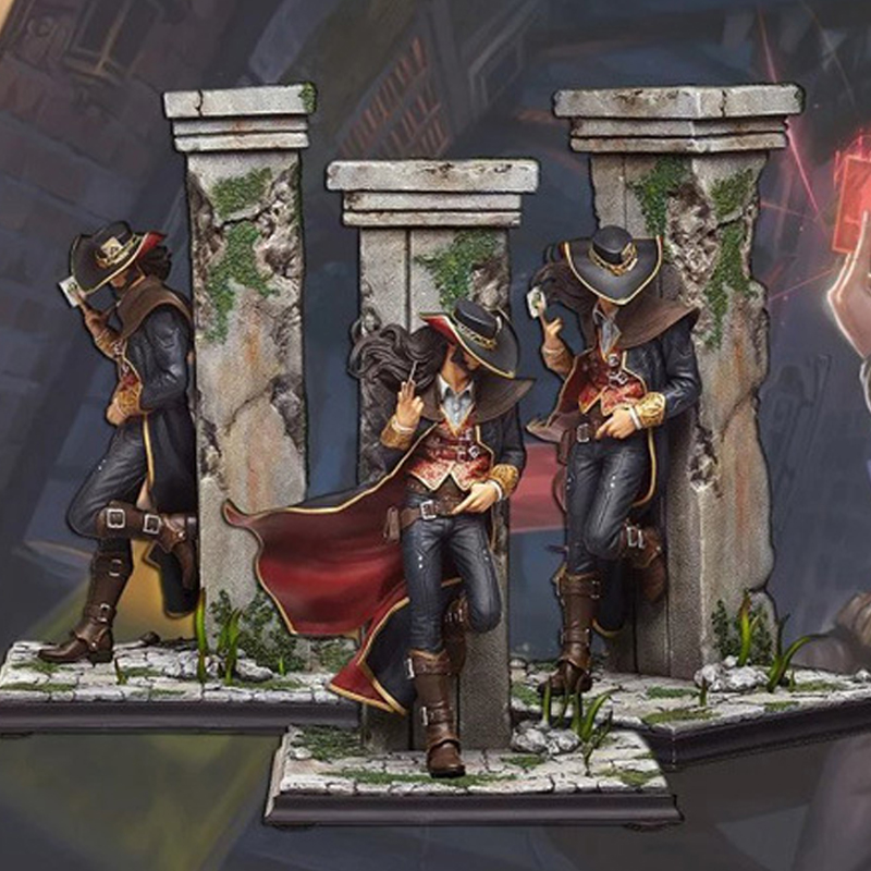 31cm Twisted Fate <font><b>Drizzt</b></font> Card Master The original skin PVC GK Action Figures Toys Model image