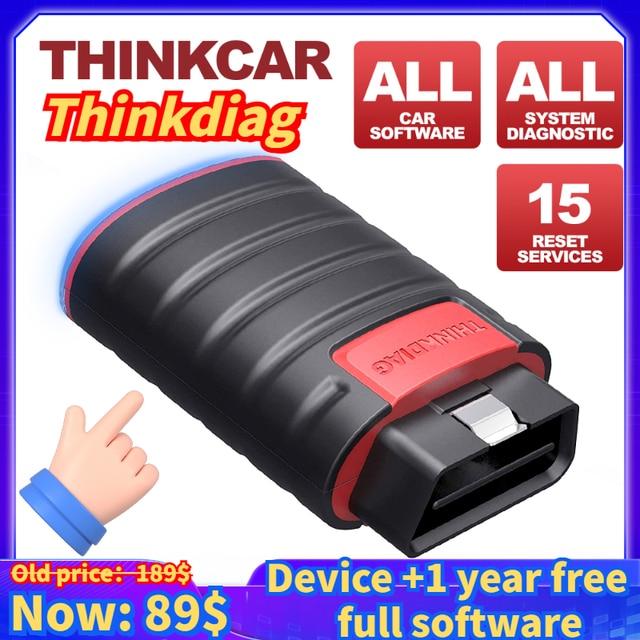 Thinkcar Thinkdiag OBD2 스캐너는 모든 시스템을 지원합니다 1 년 모든 소프트웨어 무료 전문 진단 도구보다 Diagzone