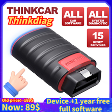 Thinkcar Thinkdiag OBD2 Scanner Supports All System 1 Year All Softwares Free Professional Diagnostic tool Better Than Diagzone