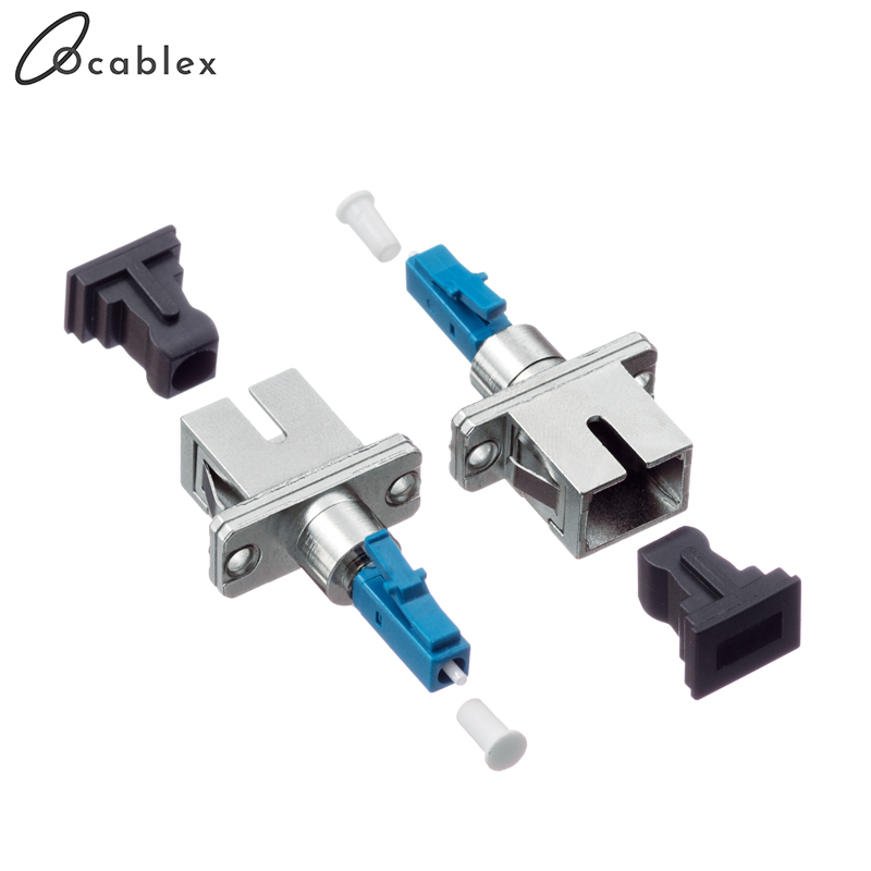 Free Shipping 5pcs/lot  LC/UPC-SC/UPC Fiber Optic Adapter SC Female To LC Male For Optical FiberSingle Mode Fast Connector