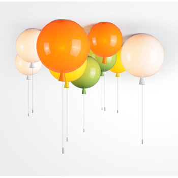 Modern Concise Colour Balloon Second Chocolate Suction Top Light Originality Restaurant Bedroom Lamps And Lanterns Kindergarten