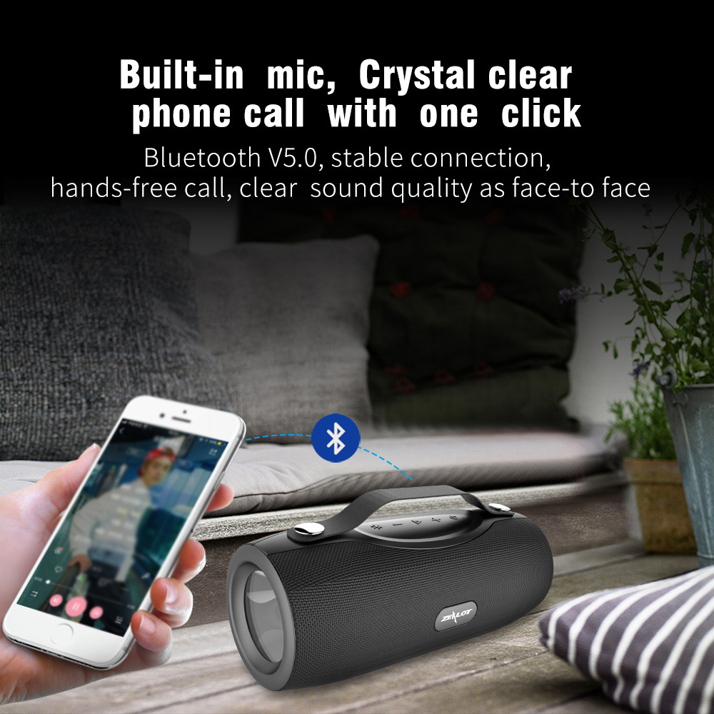 S29 Portable Bluetooth Speaker Outdoor Wireless Subwoofer+Flashlight+Power Bank Brand New And High Quality image