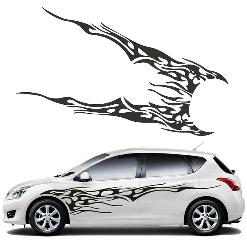Автомобильные наклейки, авто наклейки, креативные графические наклейки, украшения, окна, двери, черные, 2 шт, милые