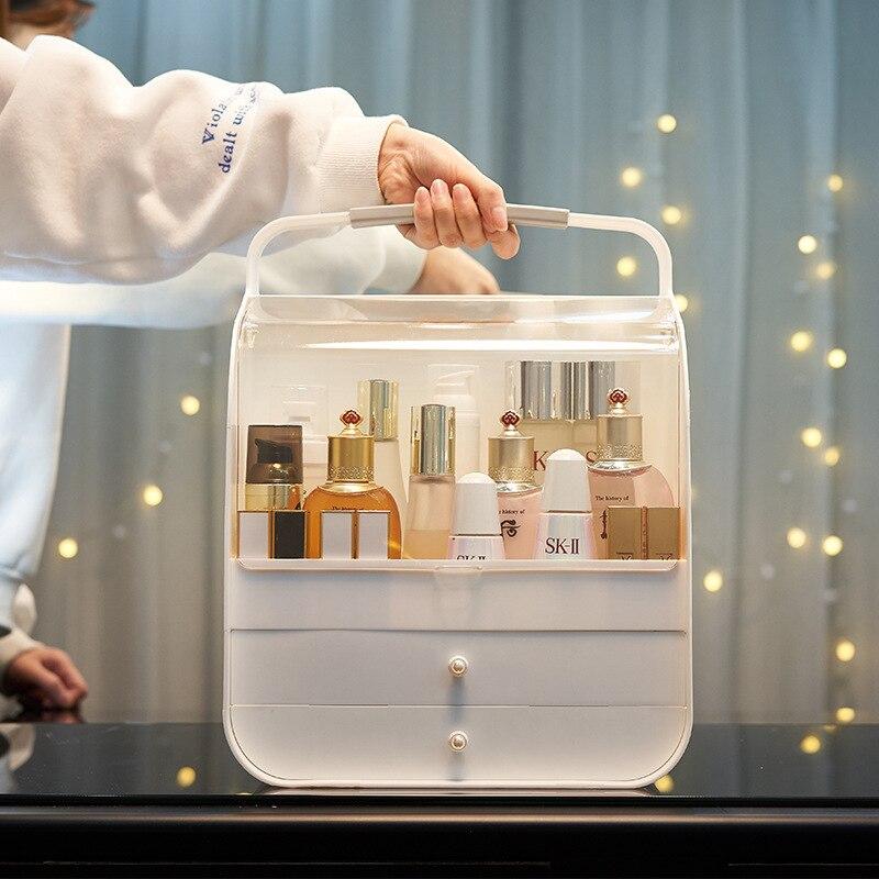 Organisateur de maquillage Transparent mode boîte de rangement cosmétique organisateur de bureau créatif organisateur de voyage portable tiroir étanche