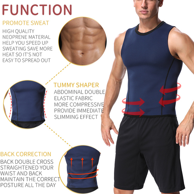 Men Workout Body Shaper Waist Trainer Tummy Slimming Sheath Abs Abdomen Shapewear Tops Slimming Trimmer Belt Vest Sweat Corset 1