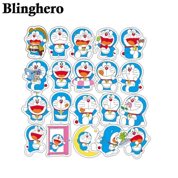 CA943 61pcs / set Doraemon Anime Graffiti Stickers For Luggage Laptop Notebook Fridge Car Motorcycle Toy Phone Cartoon Stickers anime avatar monster pet thumbnail funny spoof taste fridge magnet colourful squishy waterproof stickers kawaii toy recyclable