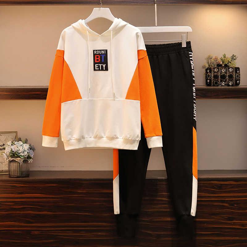 Inverno set vestiti delle donne 2019 del Nuovo Felpa e pantaloni a due pezzi abiti plus size tuta delle donne tute le donne salotto usura
