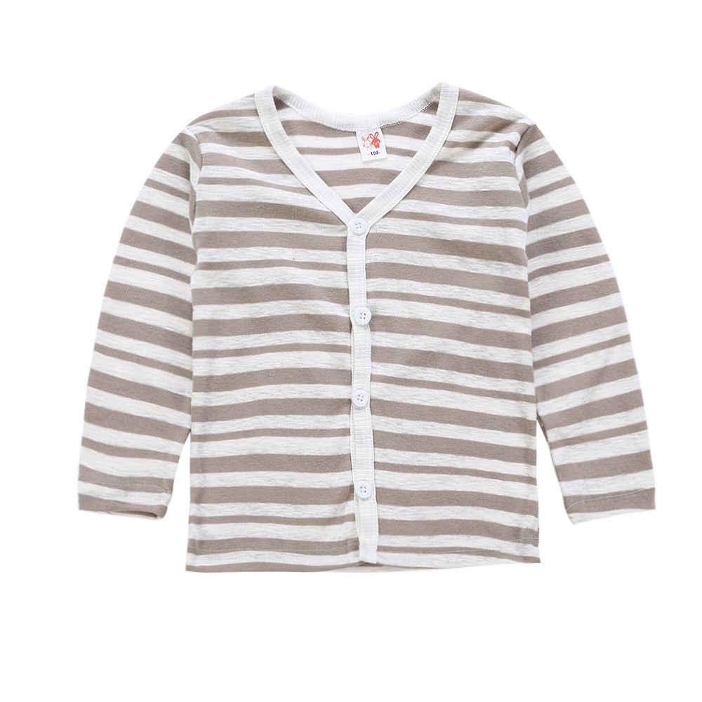 Herfst Brand New Solid Peuter Kids Baby Jongen Meisje Gebreide Trui Vest Jas Lange Mouw Top Uitloper 1-6 T
