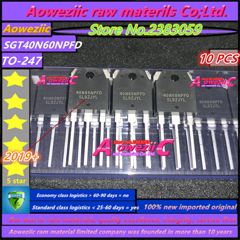 Aoweziic  2019+ 100% New Imported Original  SGT40N60NPFD 40N60NPFD  TO-247 IGBT Single Pipe 40A 600V