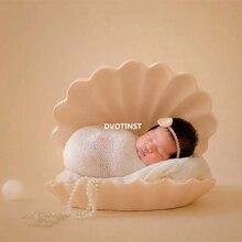 Dvotinst 신생아 사진 소품 아기 포즈 아이언 포즈 카메오 쉘 조가비 사진 Accessorio 스튜디오 촬영 사진 소품