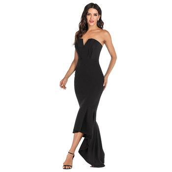 Mermaid Sexy off shoulder Tube top white Dress bodycon Backless Night club Beach Maxi Dress Party Long Women elegant Dress 2020 5