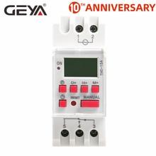 цена на Free Shipping GEYA THC-15A Din Rail Digital Time Switch Weekly Programmable Timers 16A 12V 24V 110V 220V 240V