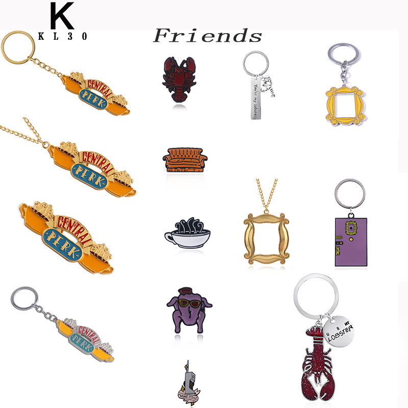 Friends TV Shows Accessories Keychain Gold Photo Frame Lobster Metal Pendant Keyring For Men Women Best Friends Car Gift