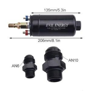 Image 2 - Universal 380LPH Hochdruck Elektrische Inline Kraftstoff Pumpe E85 Kompatibel Kraftstoff Pumpe Ersetzen Kit Fit Für AN10 Einlass/AN8 outlet