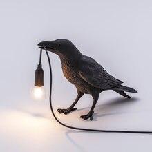 Современный seletti лампы с птицами nordic смолы светодиодная