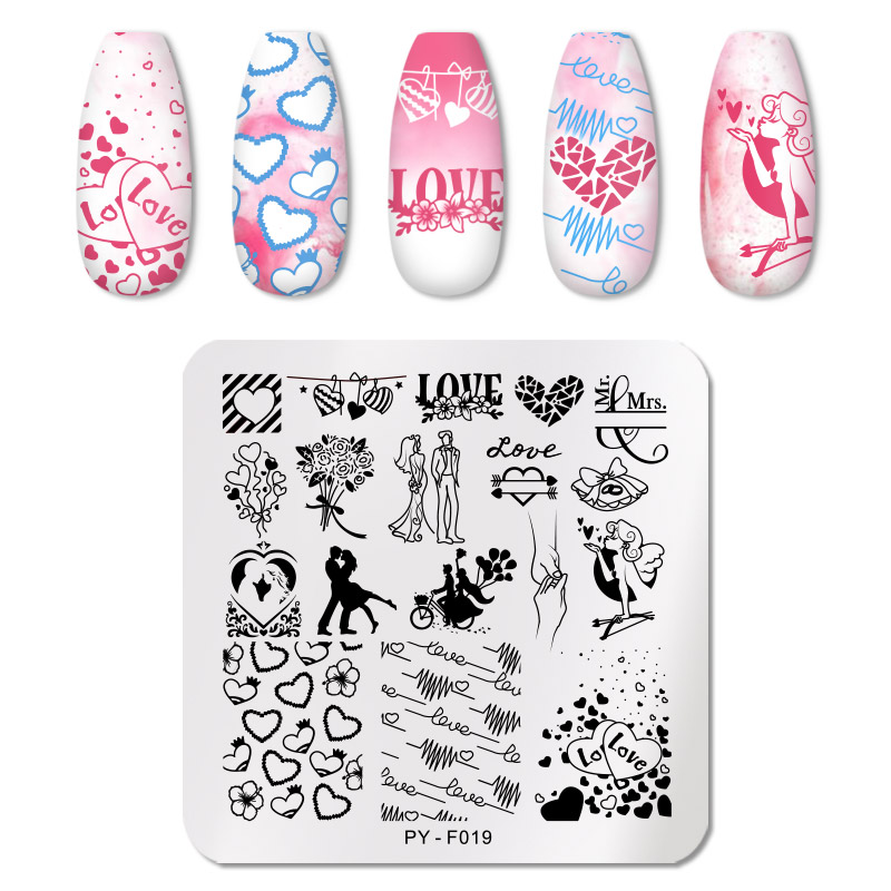 PICT YOU 12*6cm Nail Art Templates Stamping Plate Design Flower Animal Glass Temperature Lace Stamp Templates Plates Image 19