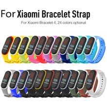 22 farben Silikon Armband Handgelenk Gurt Für Xiaomi Mi Band 4 Uhr Ersatz TPU Smart Armband Armband Sport Uhr Strap